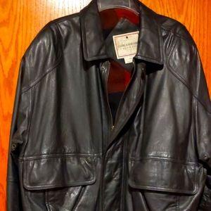 John Ashford black leather jacket